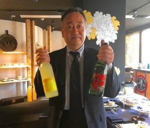 この日に振る舞う日本酒「司牡丹」の竹村社長が会所に来てくださいました